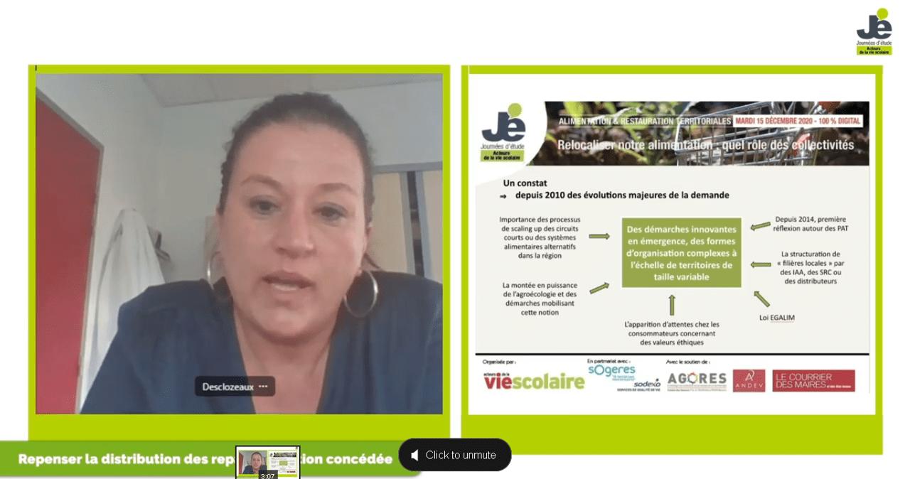 La vision des systèmes alimentaires locaux par Isabelle Desclozeaux, de Sodexo